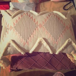 Hobby lobby peach & cream Aztec throw pillow